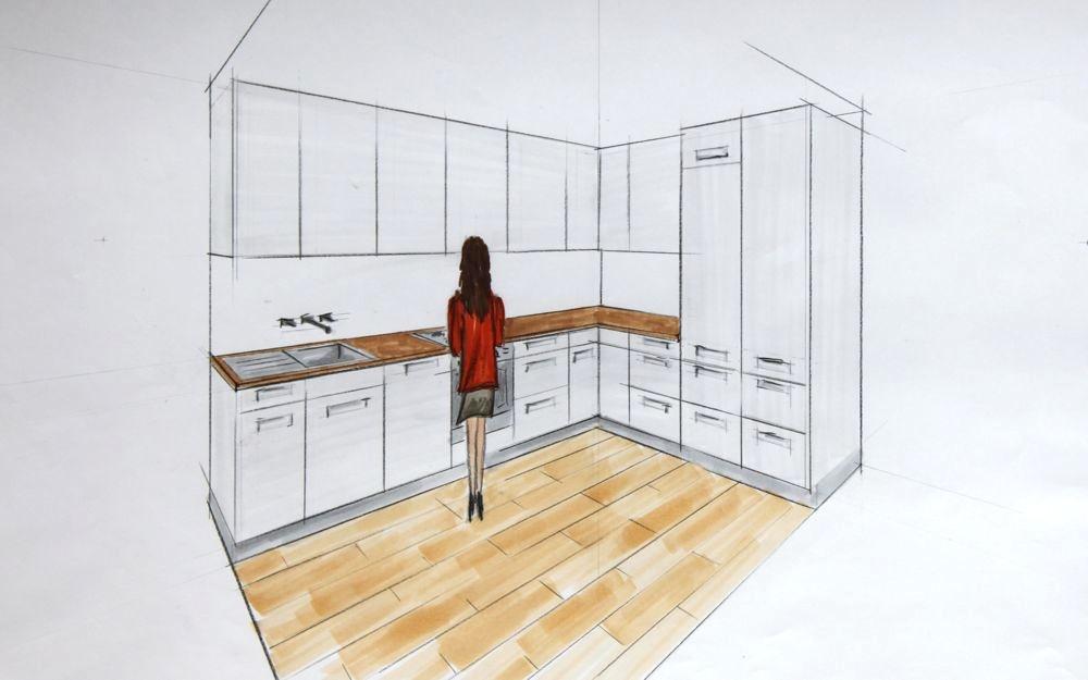 schlichte l k che. Black Bedroom Furniture Sets. Home Design Ideas