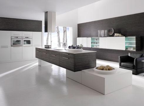 moderner Küche in Grau und Weiß