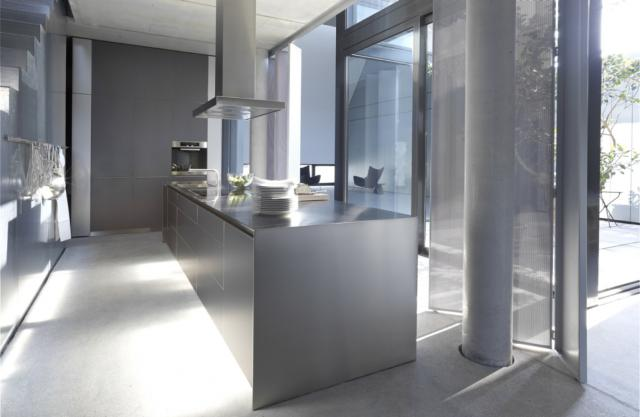bulthaup b3 monoblock in edelstahl. Black Bedroom Furniture Sets. Home Design Ideas